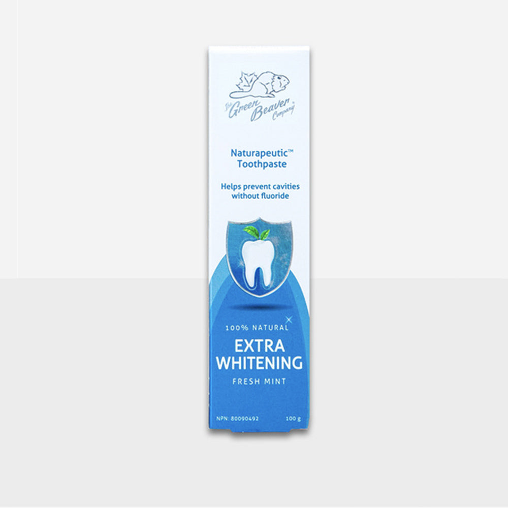 Green Beaver Toothpaste Naturapeutic Extra Whitening in Fresh Mint 100g