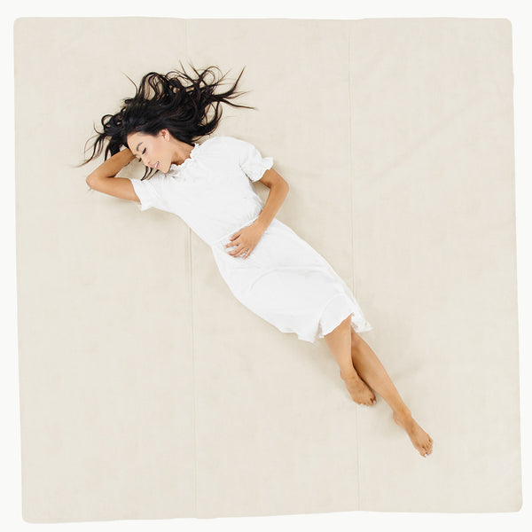 Gathre Maxi Large Sized Multipurpose Leather Mat Square in Blanc