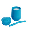 ezpz Mini Cup + Straw Training System in Blue