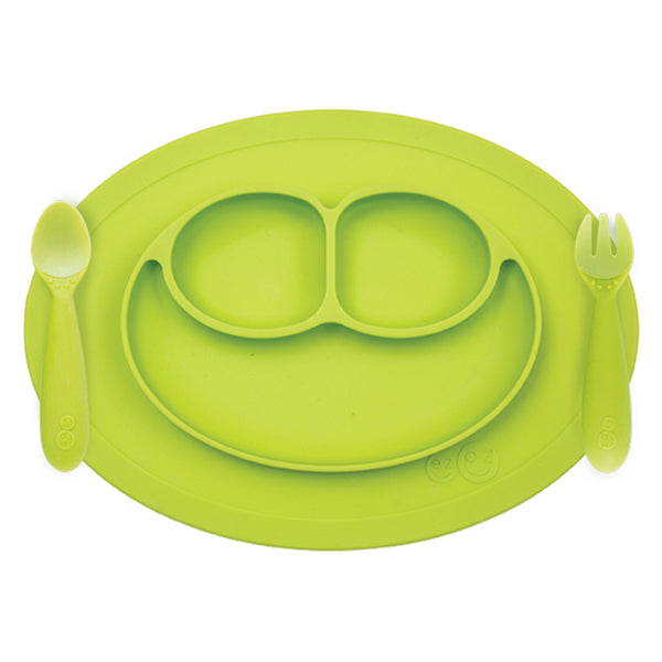 ezpz Mini Feeding Set in Lime
