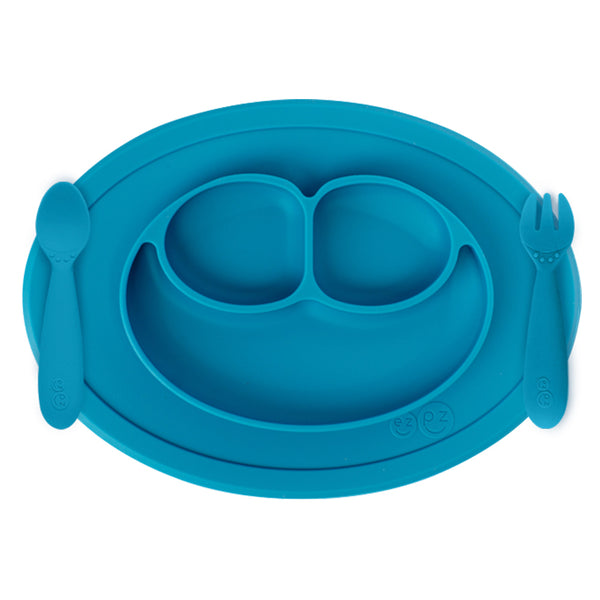 ezpz Mini Feeding Set in Blue