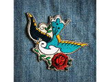 Les Tatoues sparrow iron on patch