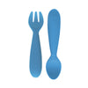 ezpz Mini Utensils (Fork + Spoon) in Blue