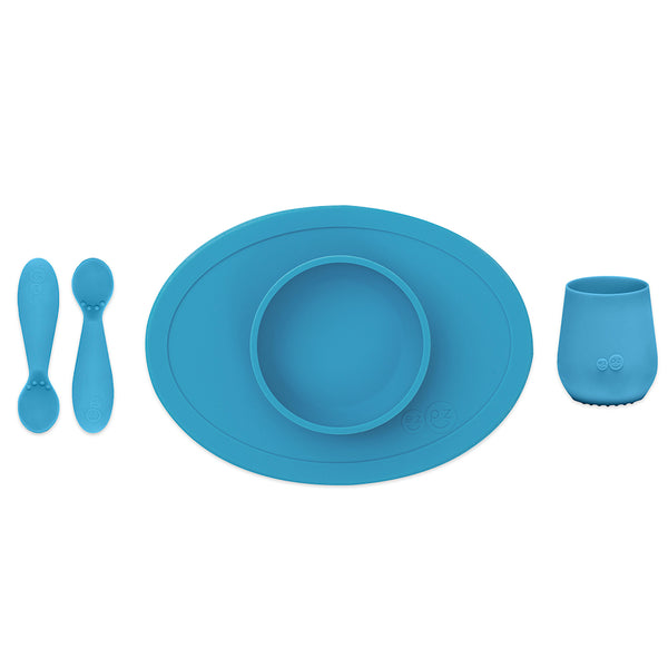 ezpz First Foods Set in Blue