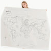 Gathre Midi+ Multipurpose Leather Mat, Tapestry in print World Map
