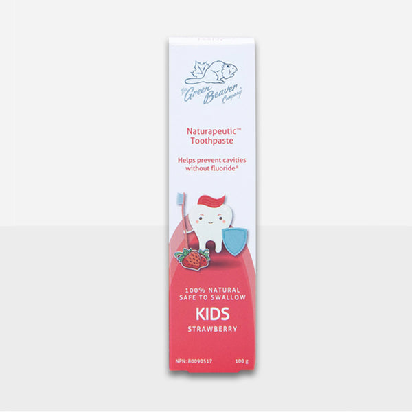 Green Beaver Toothpaste Naturapeutic Childrens in Strawberry 100g