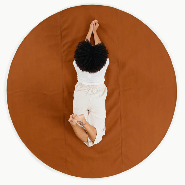 Gathre Maxi Large Sized Multipurpose Leather Mat Circle in Ginger
