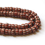 10x16mm Beads measure approximately,  6-layer Venetian Chevron beads are the most beautiful, recognizable and collectable of all of the Venetian Trade Beads Note:- This beads is not much glosy and shiny Size may vary due to handmade Its Vintange collectio