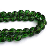 "About 14mm and 7mm thickness Size Disc Shape Handmade Lampwork Glass Beads Sold Per Strand of 16"" Line Approx 30 Beads"