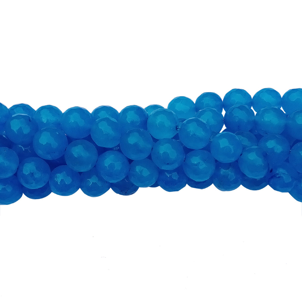 "8 mm Size Agate Onyex Gemstone Beads for Jewellery Making Sold Per Line of about 15"" Approx 44~48 Beads"