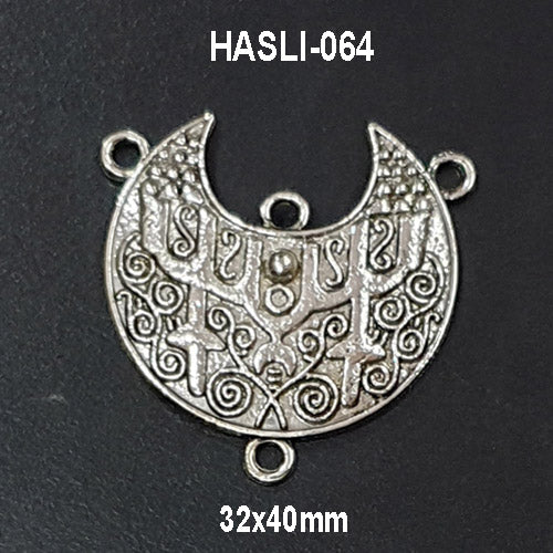 32x40mm Double Loop Boho Hasli Gypsy Pendants Charms Oxidized Sold Per Piece