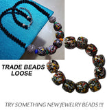 20~22mm,10 Beads, Larger Size and Larger Hole, Trade Beads