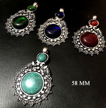 Stone Studded Metal Pendants sold by per piece pack,mix assortment, pendants will be given randomly