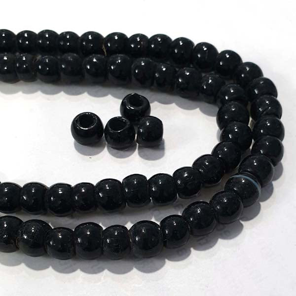 "Solid Color Glass Pony Beads Large Hole about 3~4mm ,  Beads Size about 8~9mm, Sold Per Strand of 16"" (Line) About 60~65 Beads"