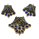 Approx 50mm Kundan and Meena Pendant Set High Quality Sold Per Set