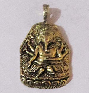 48x26mm, Ganesha Elephant Temple Pendants, Gold plated, sold Per Piece Pack