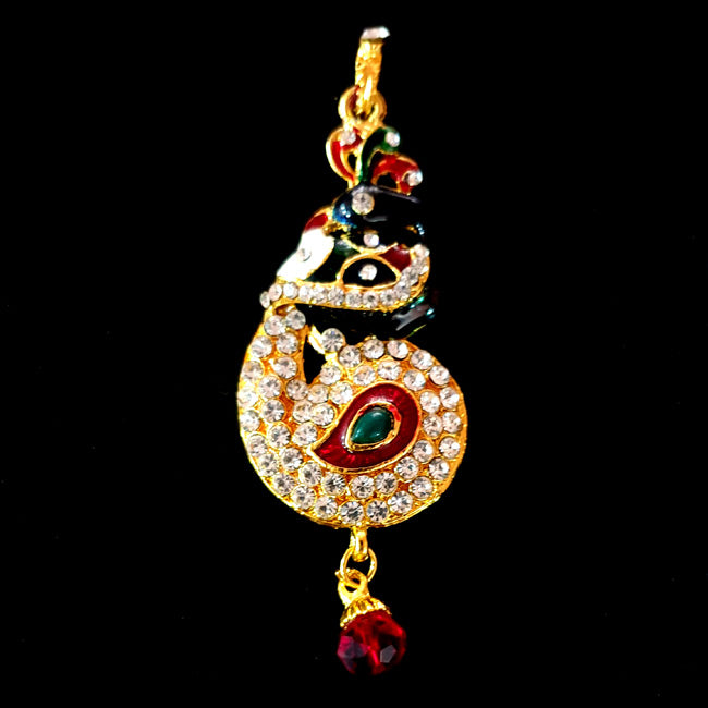 32x80 mm Stone Pendants high quality stone setting gold plated Sold by Per Piece