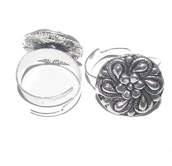 Fashion German Silver Metal Ring, Sold by  Per Piece