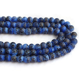 "About 9mm Size Black Mosaic designs Handmade Lampwork Glass Beads Sold Per Strand of 16"" Line Approx 48~53 Beads"