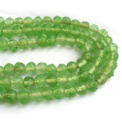 "About 9mm Size Sugar designs Handmade Lampwork Glass Beads Sold Per Strand of 16"" Line Approx 48~53 Beads"