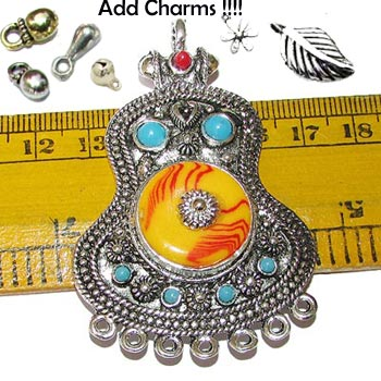 Size Scale Ethnic Nepali Pendant, Sold by Per Piece