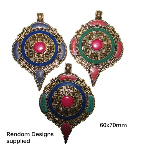 60x70mm, Handmade Neplai Pendants, Sold by Per Piece, Renom desings (not sold individually)