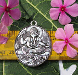 Beautiful silver And gold temple pendant Size Scale