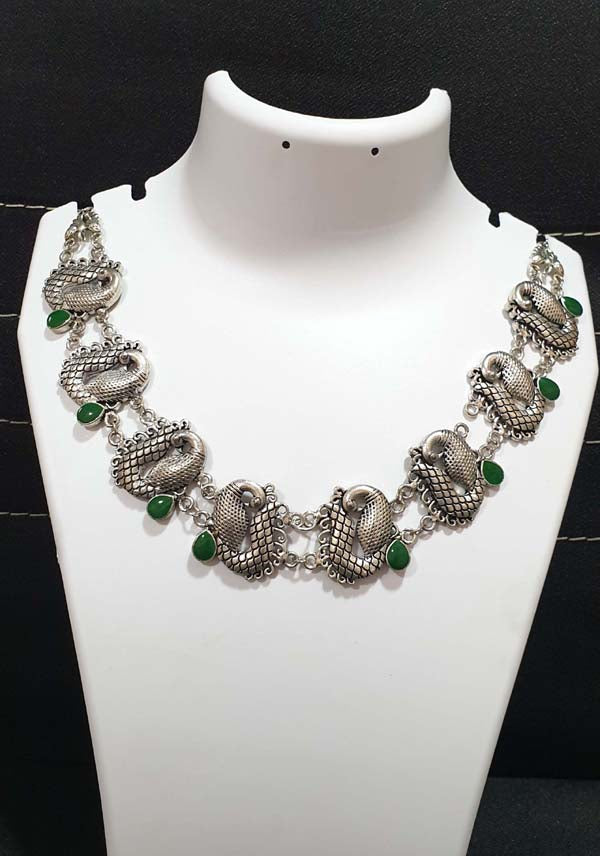 Rajasthani Boho Gypsy Oxidized metal jewellery Necklace Sold Per Piece cheapest oxidised jewellery online