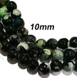 Promised Lowest Price !Faceted Round, Sold Per Strand about 38 Beads, 10mm Agate Onex Gemstone Beads
