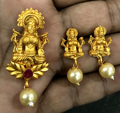 Dull Gold Pendant Best Quality Sold Per Set
