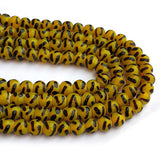 "About 9mm Size Leopard designs Handmade Lampwork Glass Beads Sold Per Strand of 16"" Line Approx 48~53 Beads"