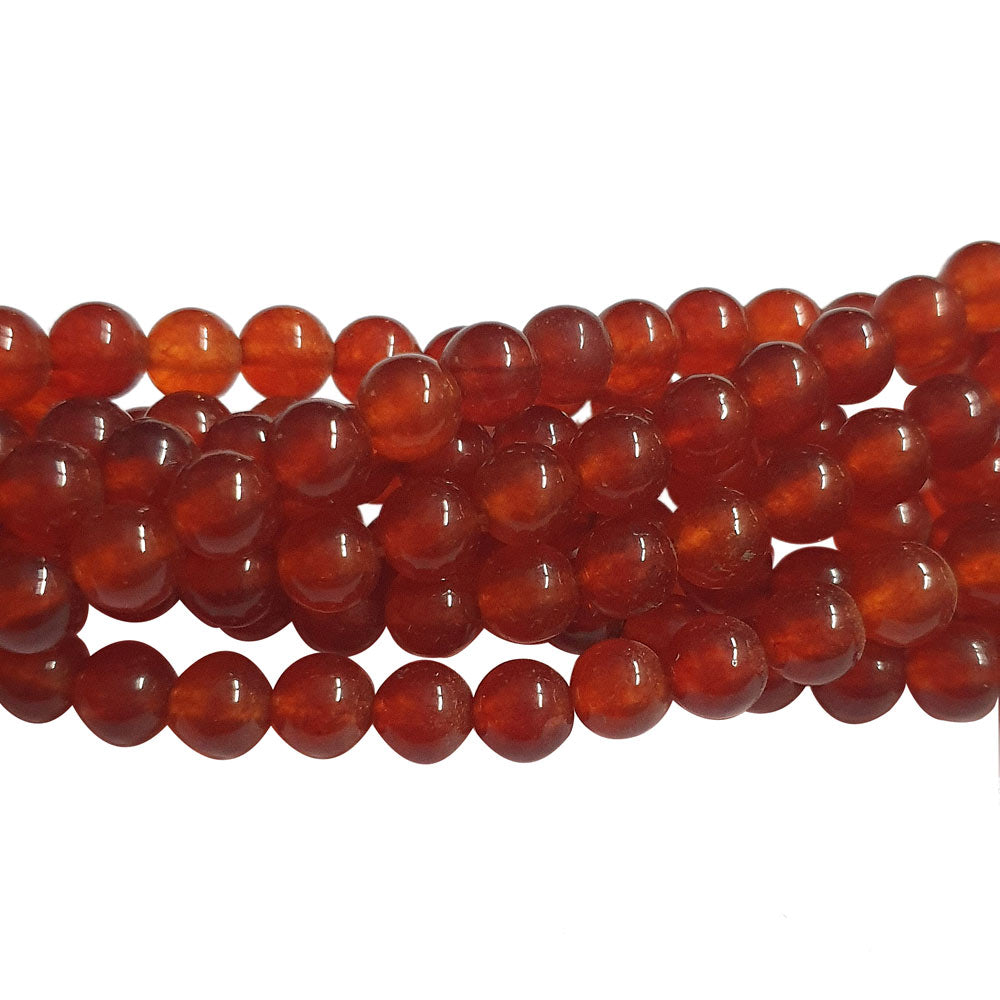 "6 mm Size Agate Onyex Gemstone Beads for Jewellery Making Sold Per Line of about 15"" Approx 60~65 Beads"