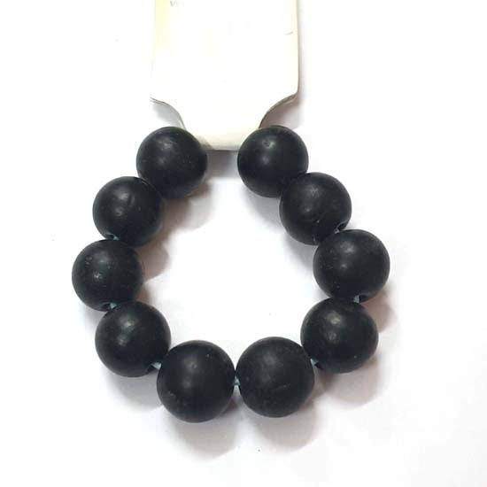 13mm Size 10 Beads Plain Large Size Vintage Glass Beads, Hole Size about 3~5mm Unbeatable Discounted Price offered Made Ethnic and Fancy Necklace, No Exchange or Refund Due to Sale Item