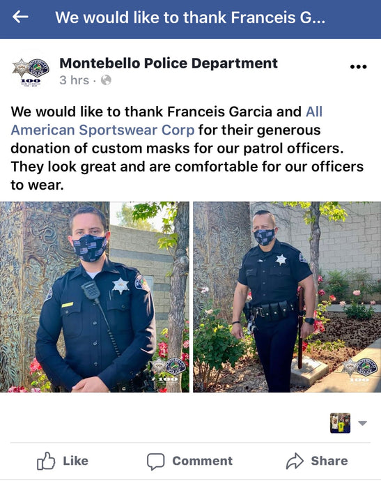 Montebello Police Thank All American