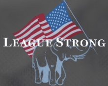 Load image into Gallery viewer, League Strong logo grey