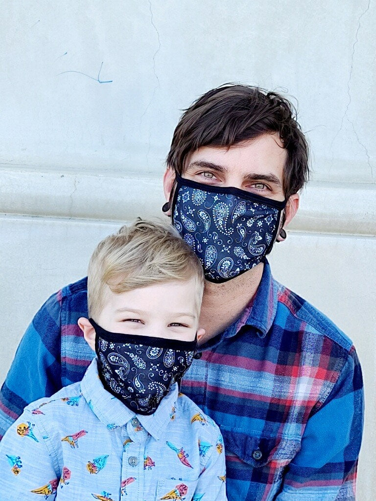 Blue Bandana Adult and Child