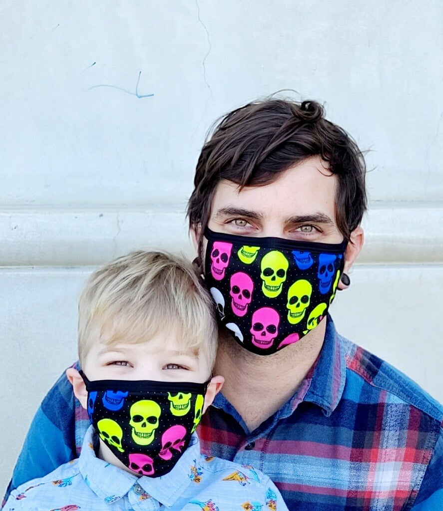 Neon Skull Pattern Adult and Child