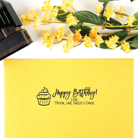 Custom Happy Birthday Stamp