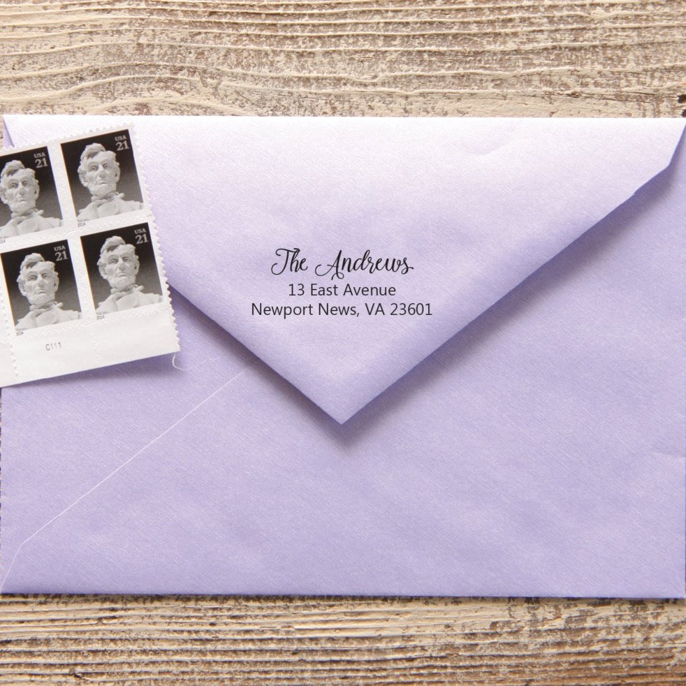 Gracious Return Address Stamp
