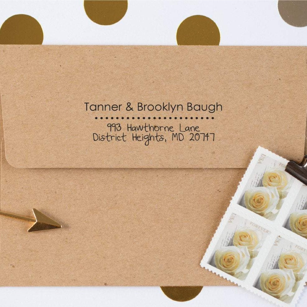 Simply Dotted Return Address Stamp