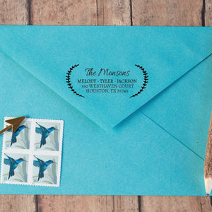 Wheat Border Return Address Stamp