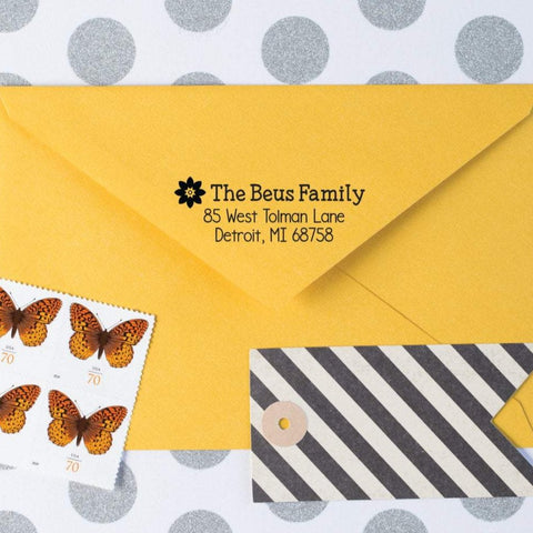 Daisy Return Address Stamp