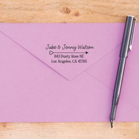 Heart Arrow Return Address Stamp