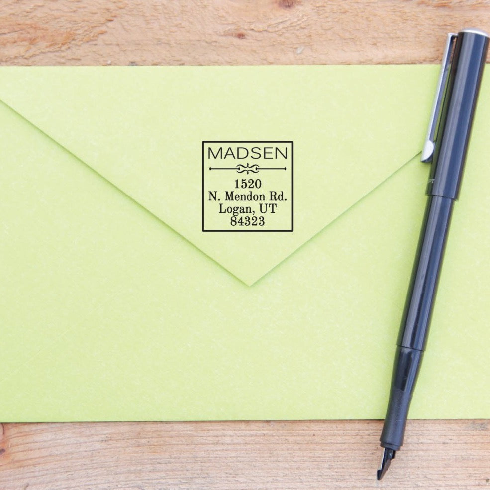 Square Return Address Stamp