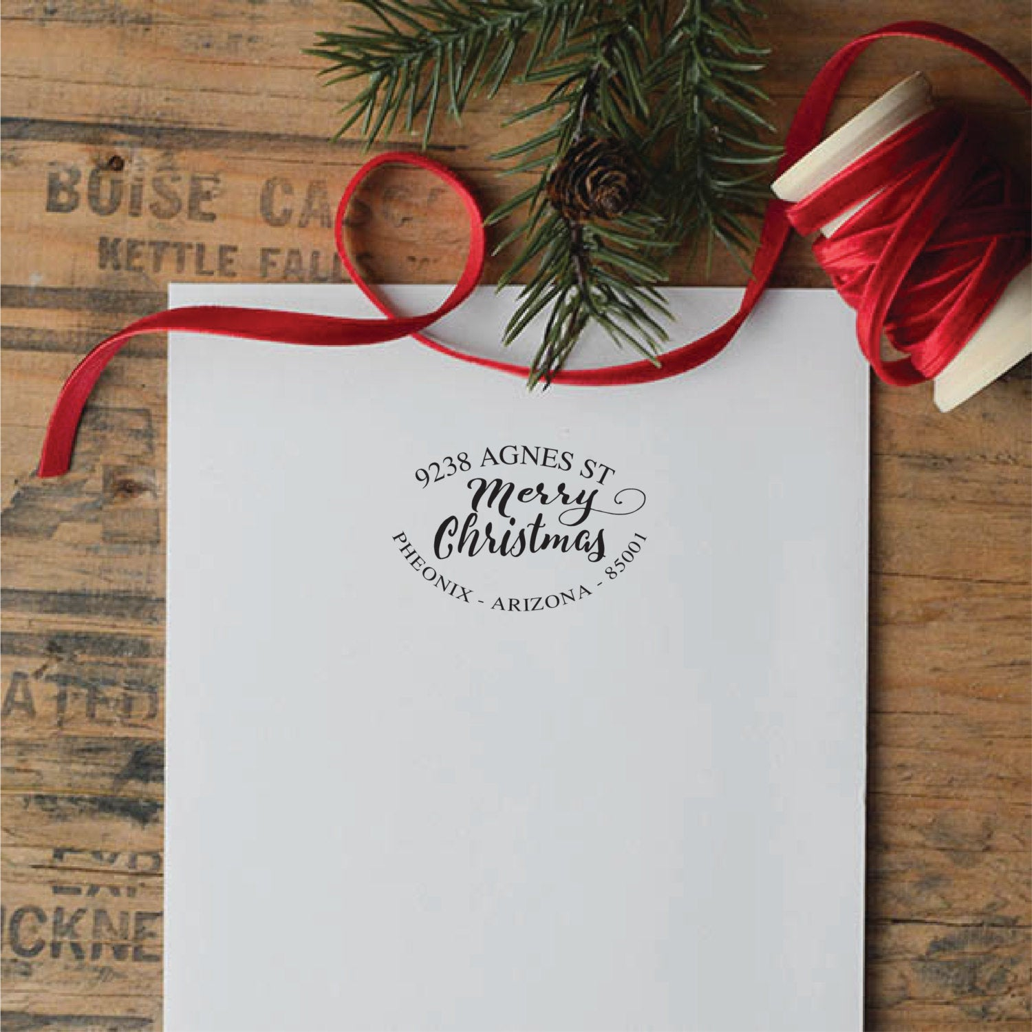 Merry Christmas Return Address Stamp