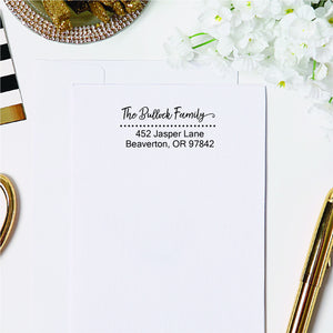 Dotted Return Address Stamp