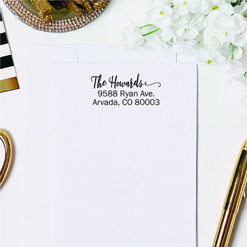 Cursive Finale Return Address Stamp