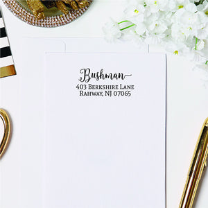 Favorite Script Return Address Stamp