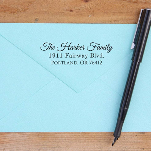 Pleasant Return Address Stamp