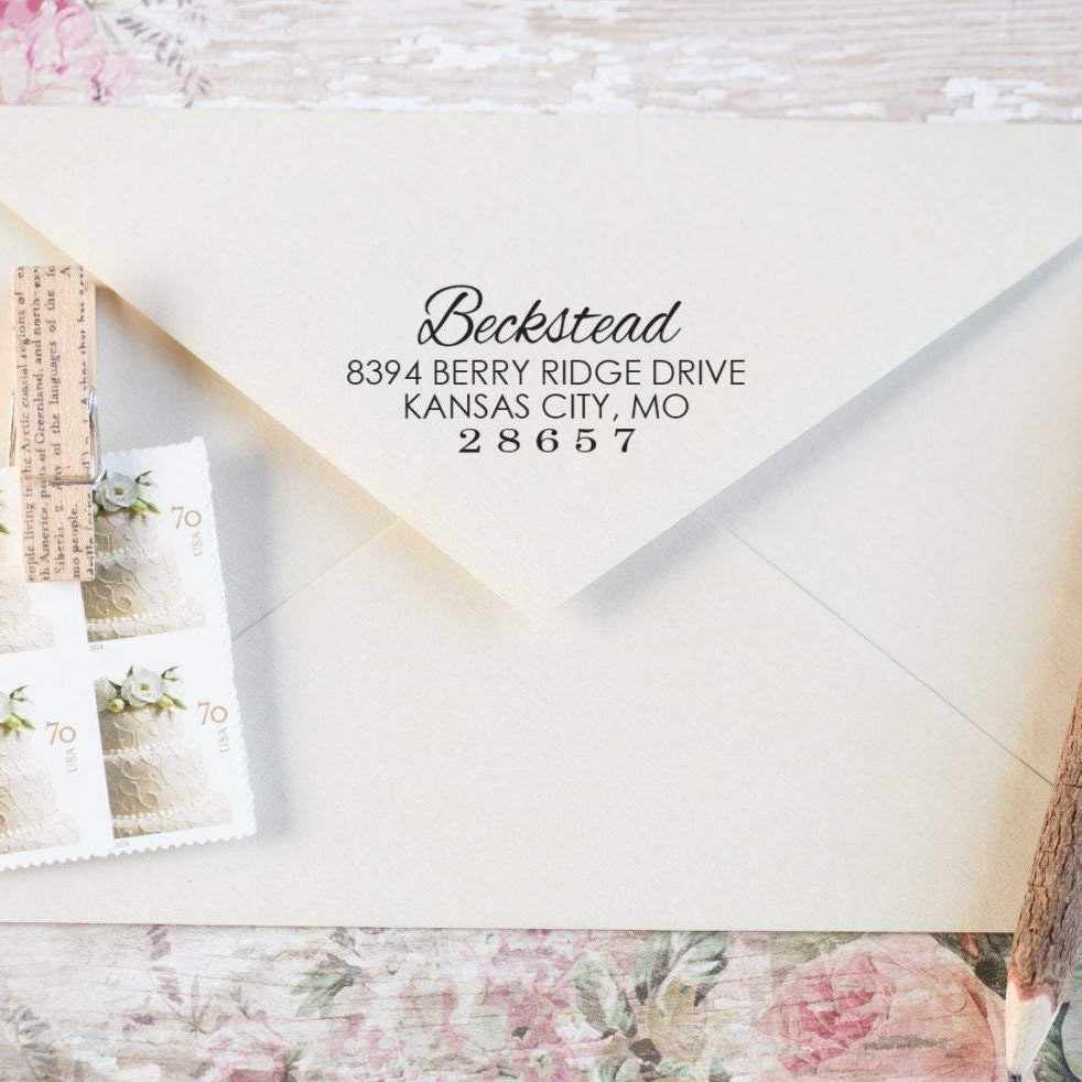 Orderly Return Address Stamp